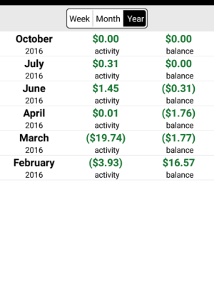 Snap Energy Latino Mobile App Bill History